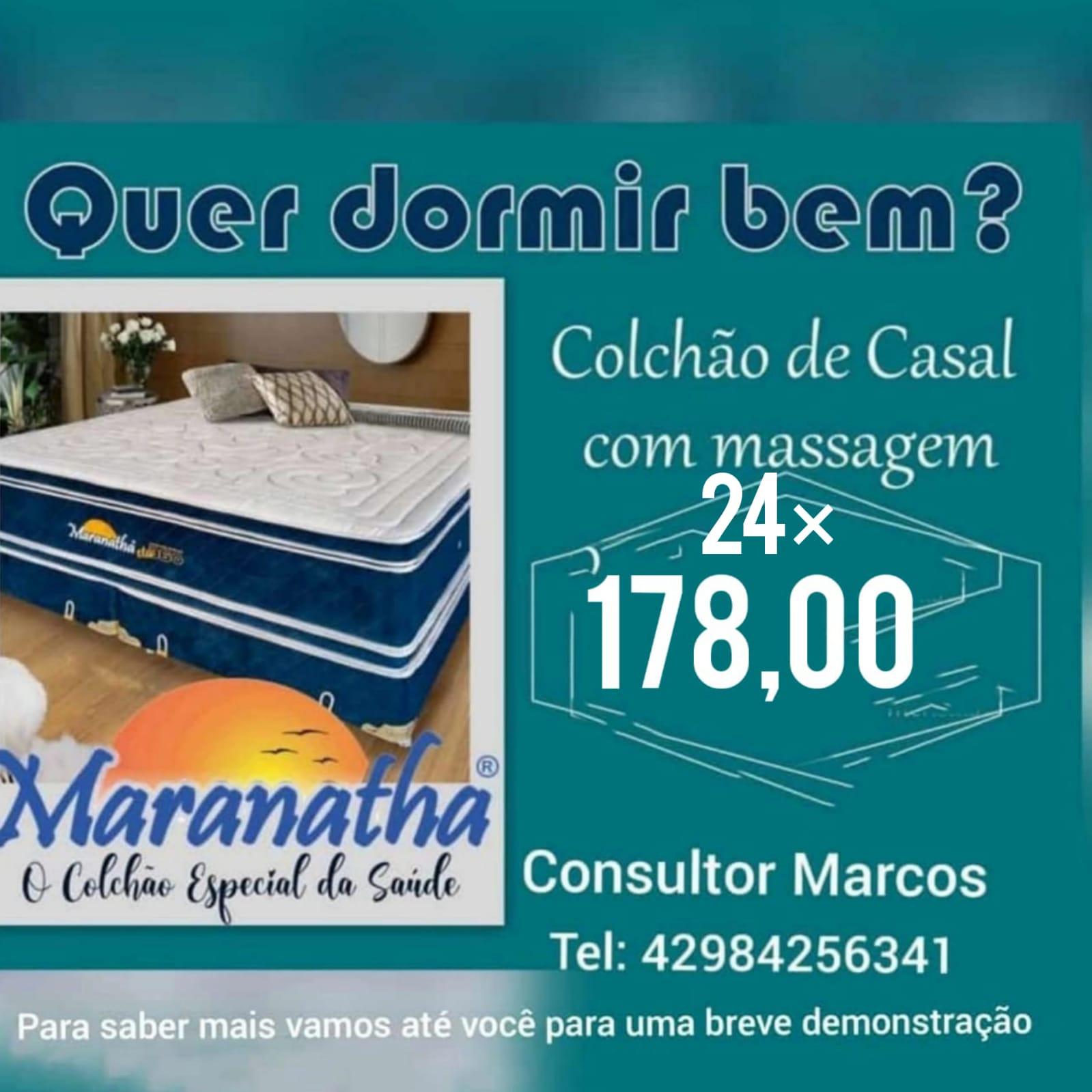 Publicidade COLCHÕES ESPECIAIS MARANATHA PROMOÇÃO